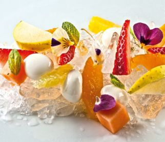 Fruchtsalat_mit_Joghurt-Honig-Sphaeren_Texturas_Algin_Easy_Kit_Spherification